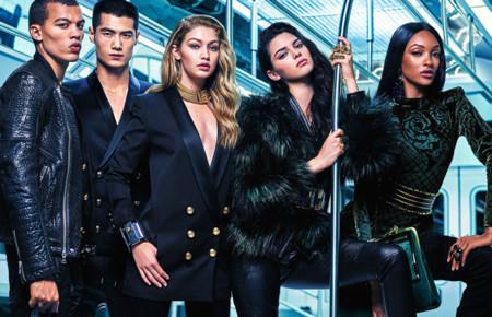 Balmain For Hm Campana Campaign Kendall Jenner Jourdan Dunn Gigi Hadid 3