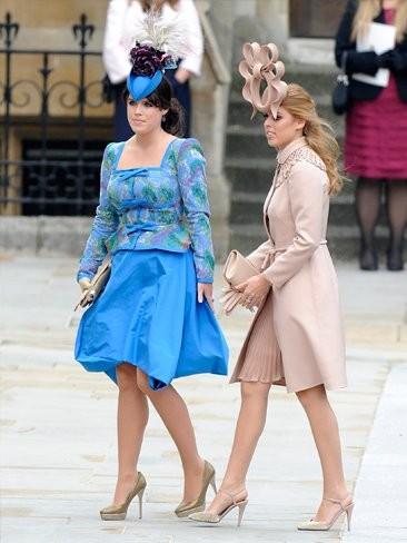 Pero quién ha vestido a las princesas Beatriz y Eugenia en la boda de Guillermo y Kate Middleton