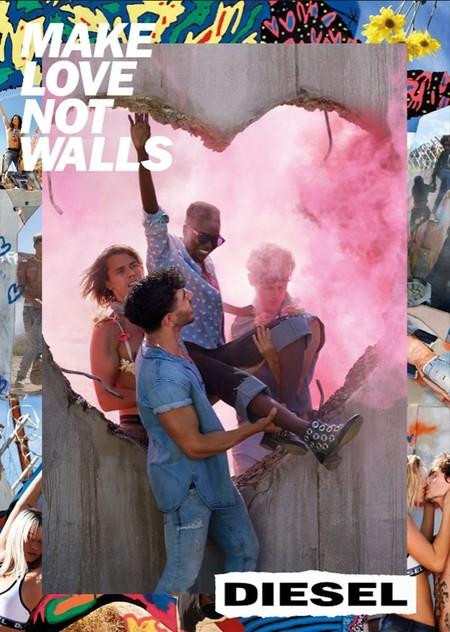 """Diesel planta cara a Trump con su nueva campaña """"Make love not walls"""" e incendia las redes"""
