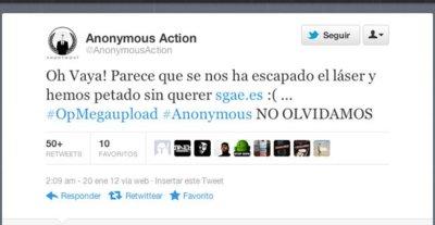 Anonymous lanza ataques también en España: cae la web de la SGAE