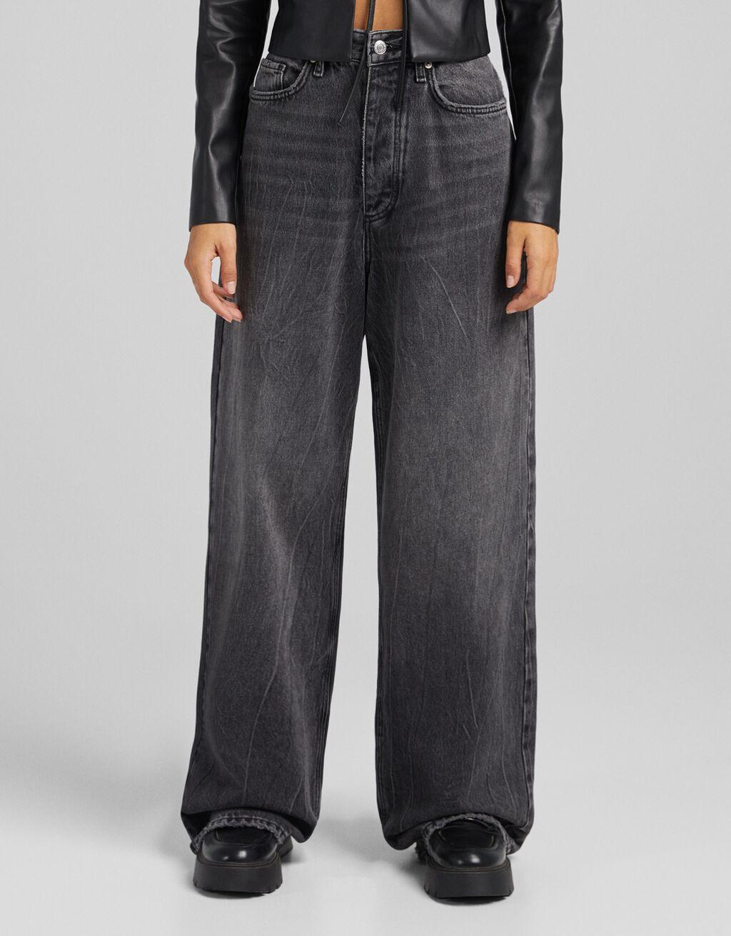 Jeans high waist wide leg