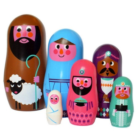 Original Nativity Nesting Dolls Grande