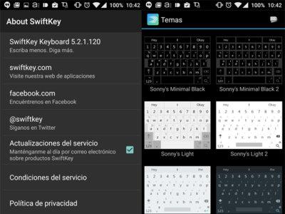 Super Swiftkey, una modificación del famoso teclado con temas más atractivos y gratuitos