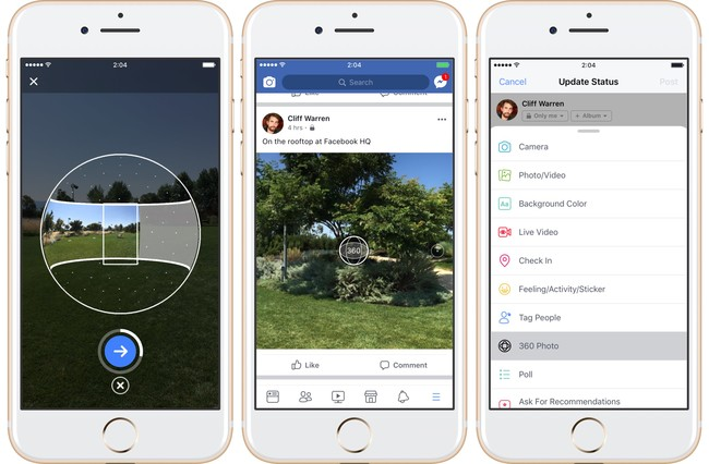 Facebook For Ios 360 Degree Photos Iphone Screenshot 001
