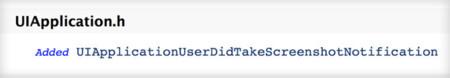 Nueva API para la detección de capturas en iOS 7 beta 4