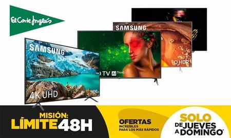 Estas 27 smart TVs de LG, Panasonic, Samsung o Sony te saldrán mucho más baratas si aprovechas las ofertas Límite 48 Horas de El Corte Inglés este fin de semana