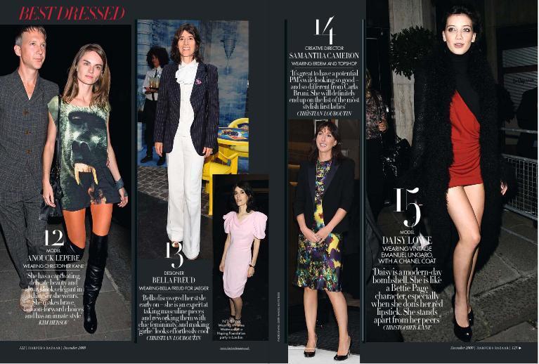 Foto de El Top 20 de las mejor vestidas de 2009 según Harper's Bazaar (5/9)