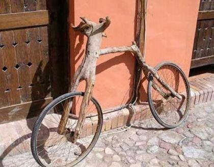 Bicicleta un tanto rústica