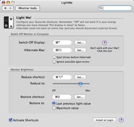 LightMe, atajos para controlar la iluminación de la pantalla