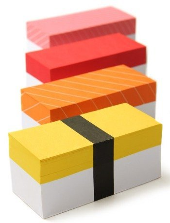 Bloc de notas en forma de bloque de sushi