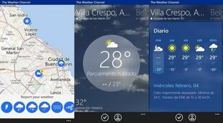 The Weather Channel se actualiza y cambia el diseño de su aplicación