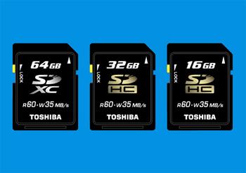 Toshiba prepara sus tarjetas SDXC