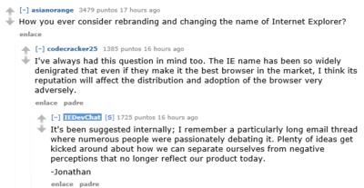 Microsoft se planteó cambiar de nombre a Internet Explorer