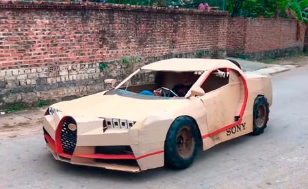 El que no tiene un Bugatti Chiron en su garaje es porque no quiere: ojo a estas réplicas de cartón de superdeportivos