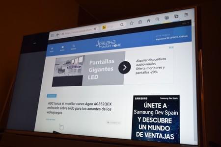 Navegador Firefox en Panasonic TX-50DX800E