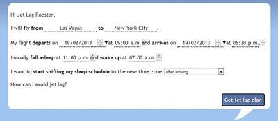 Jet Lag Rooster, una web que ayuda al viajero a sobrellevar el jet lag