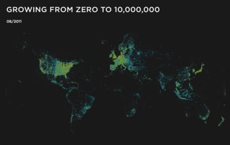 Foursquare ya tiene oficialmente 10 millones de usuarios