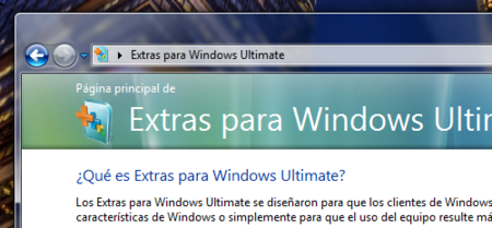 Extras Windows Vista Ultimate
