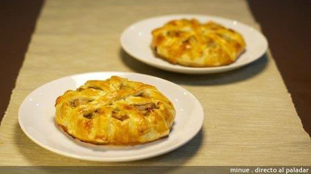 Receta de tartaleta de atún y cebolla caramelizada