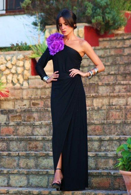 vestidos negros asimetricos