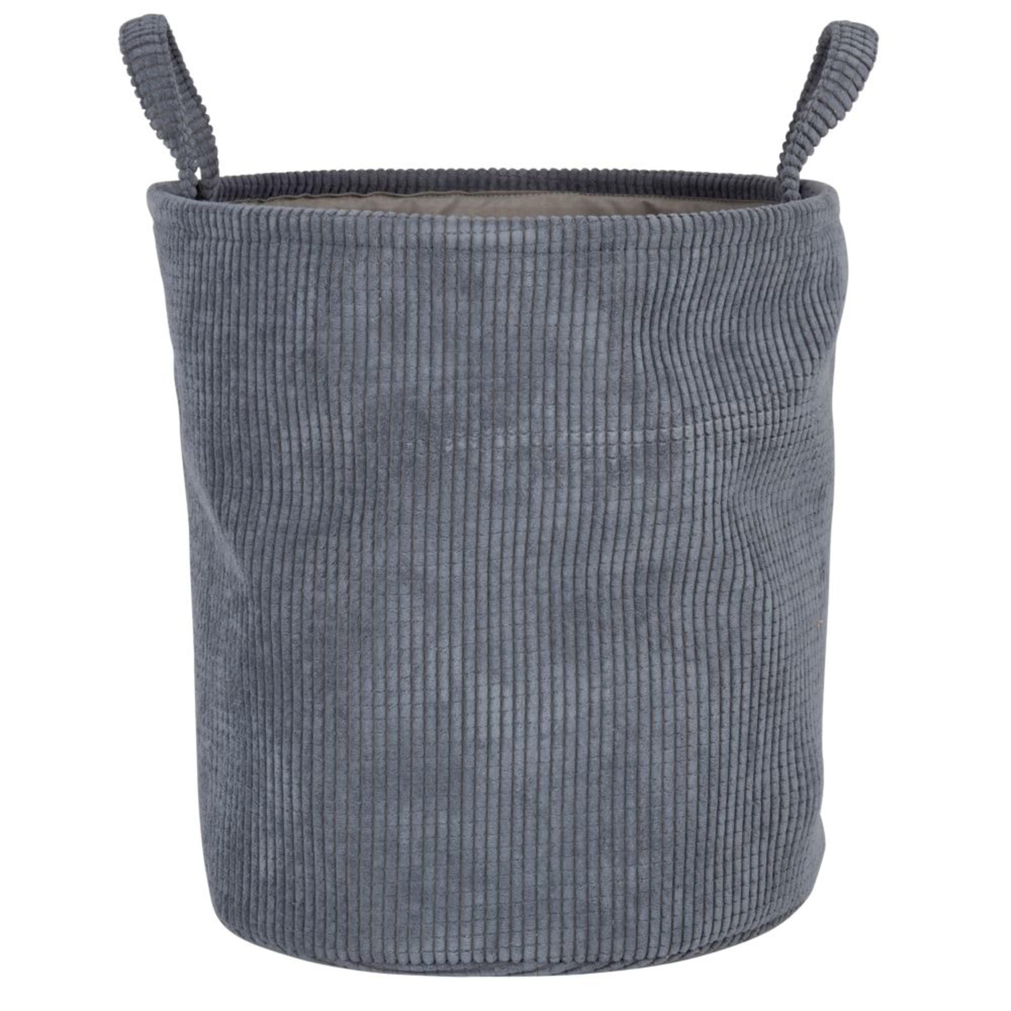 Cesta de almacenamiento de terciopelo color negro carbón