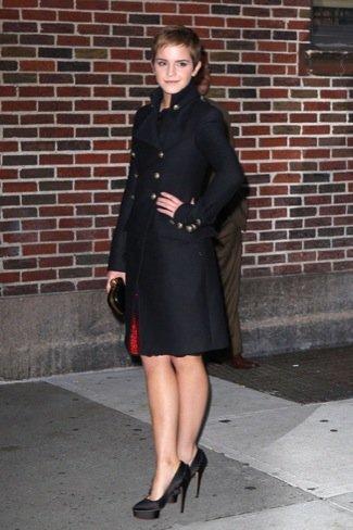 Emma Watson Letterman abrigo