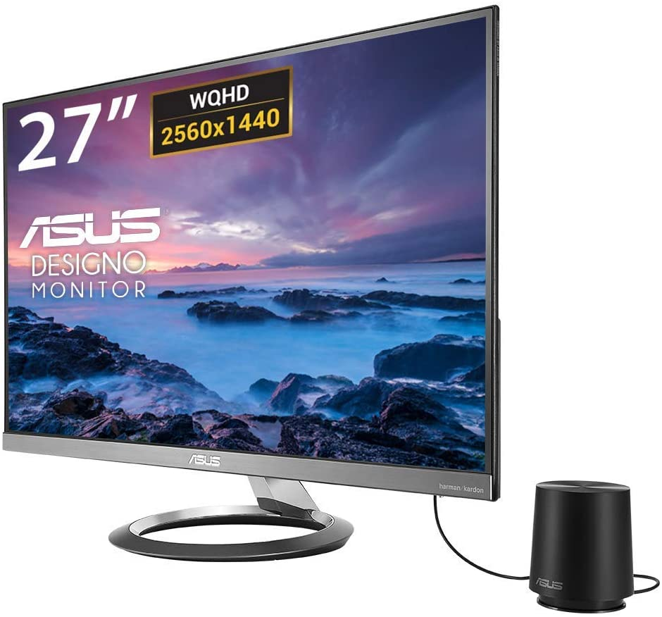 "ASUS Designo MZ27AQ Pantalla para PC 68,6 cm (27"") Wide Quad HD LED Plana Gris - Monitor (68,6 cm (27""), 2560 x 1440 Pixeles, Wide Quad HD, LED, 5 ms, Gris)"