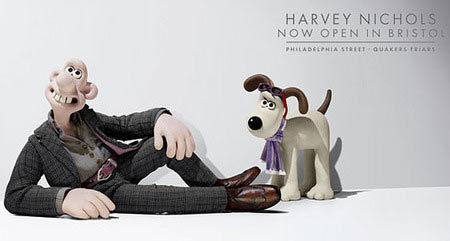Wallace y Gromit para Harvey Nichols