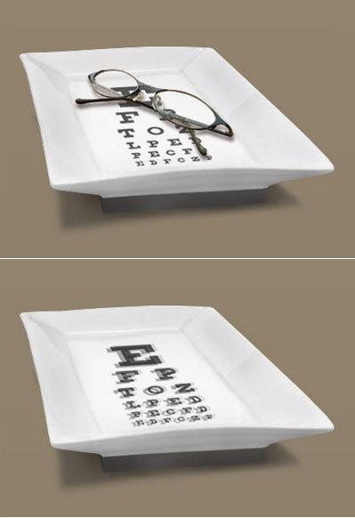 Divertida bandeja para dejar las gafas