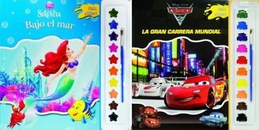 Pinta pósters con acuarelas: Cars 2 y La Sirenita