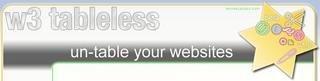 w3 tableless, chequeando sitios que ya no hacen uso de tablas