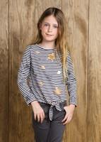 camiseta rayas y estrellas niña