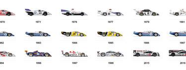 Los 18 Porsche ganadores de las 24 Horas de Le Mans, de un vistazo