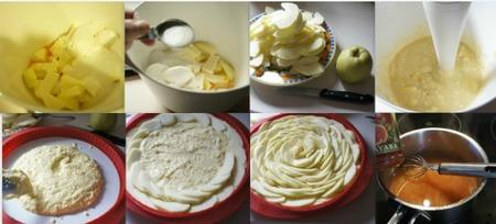 Paso a paso tarta de manzana con glaseado de guayaba
