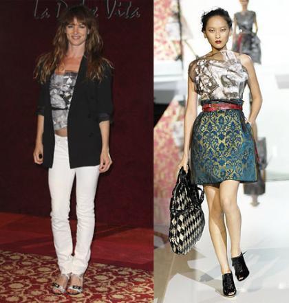 Top de Dolce & Gabbana: ¿mejor con falda o con pantalón?