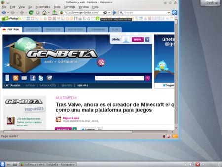 Slackware 14 Genbeta en el navegador