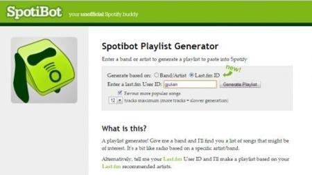 Spotibot se integra con Last.fm para crear listas de reproducción