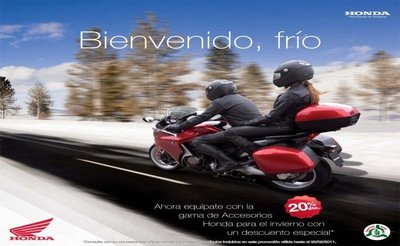 Honda,rebajas del 20% en la campaña de accesorios de invierno