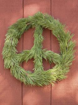 Decoración navideña: el mensaje de paz más natural
