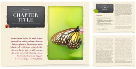 Una de las plantillas de Book Palette