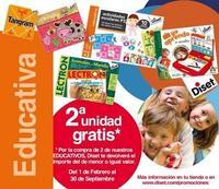 2x1 en juguetes educativos Diset: nueva promoción de Juguetilandia