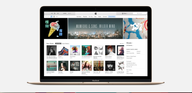 Apple Music en MacBook