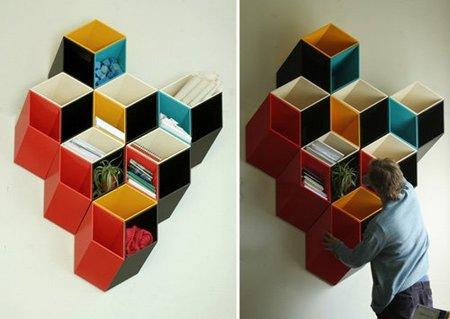 Imeüble, una estantería en dos dimensiones