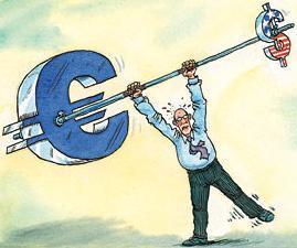 Los servicios web de pago y el cambio euro-dólar