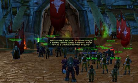 Un servidor privado de World of Warcraft ha incorporado su propia plaga del coronavirus para educar sobre cómo evitarlo