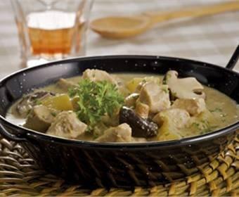Recetas de Pavo con setas y Pollo al curry