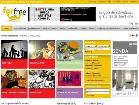 ForFree, guía de actividades gratuitas en Barcelona