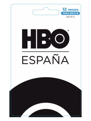 HBO Pin de suscripción 12 meses solo canjeable en España. Ahorras tres meses.