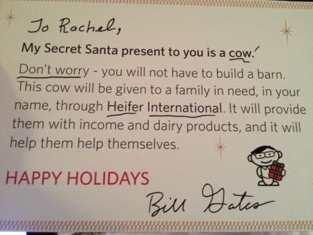 tarjeta regalo bill gates