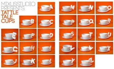 Una taza para cada letra del abecedario